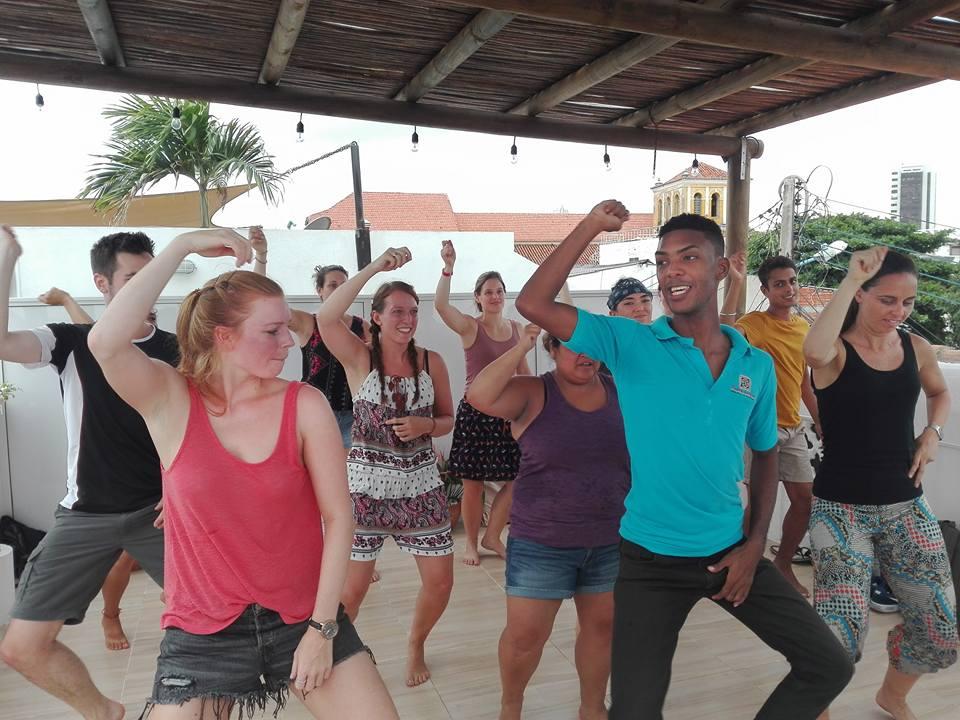 Danseklasse spansk skole Nueva Lengua Cartagena
